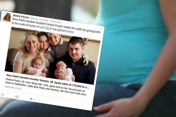 Emma Power była tak płodna, że w zajściu w ciążę nie przeszkodziła jej nawet antykoncepcja