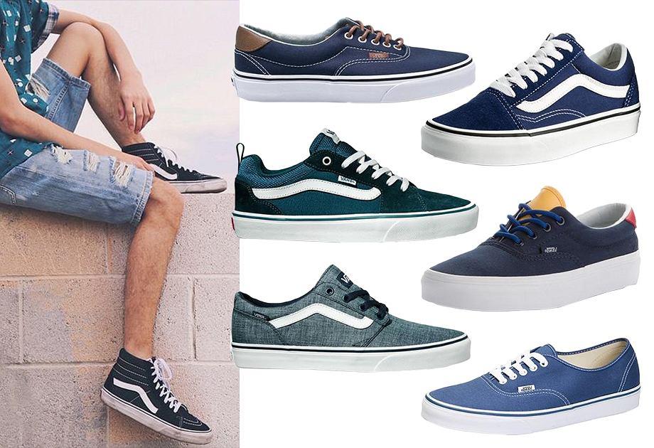 Niebieskie buty Vans