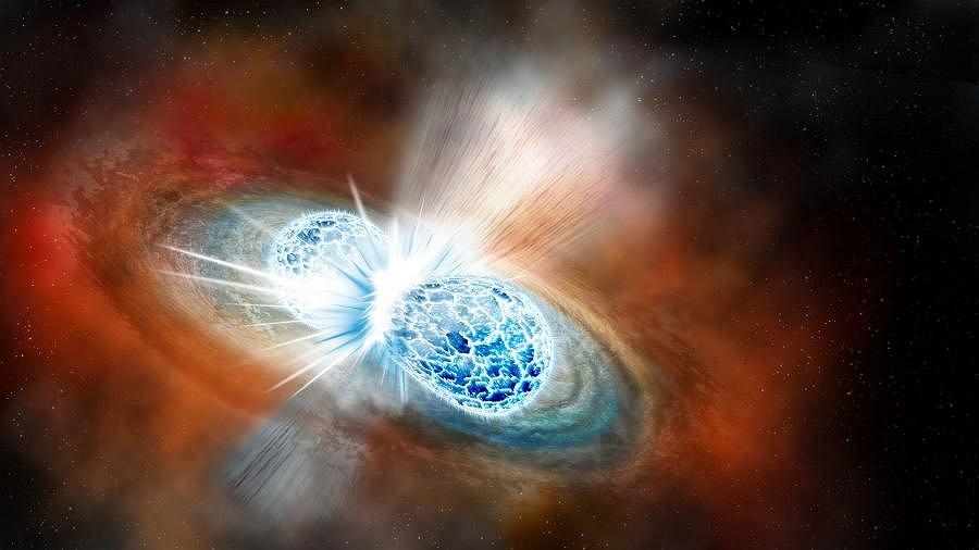 Zderzenie dwóch gwiazd neutronowych
