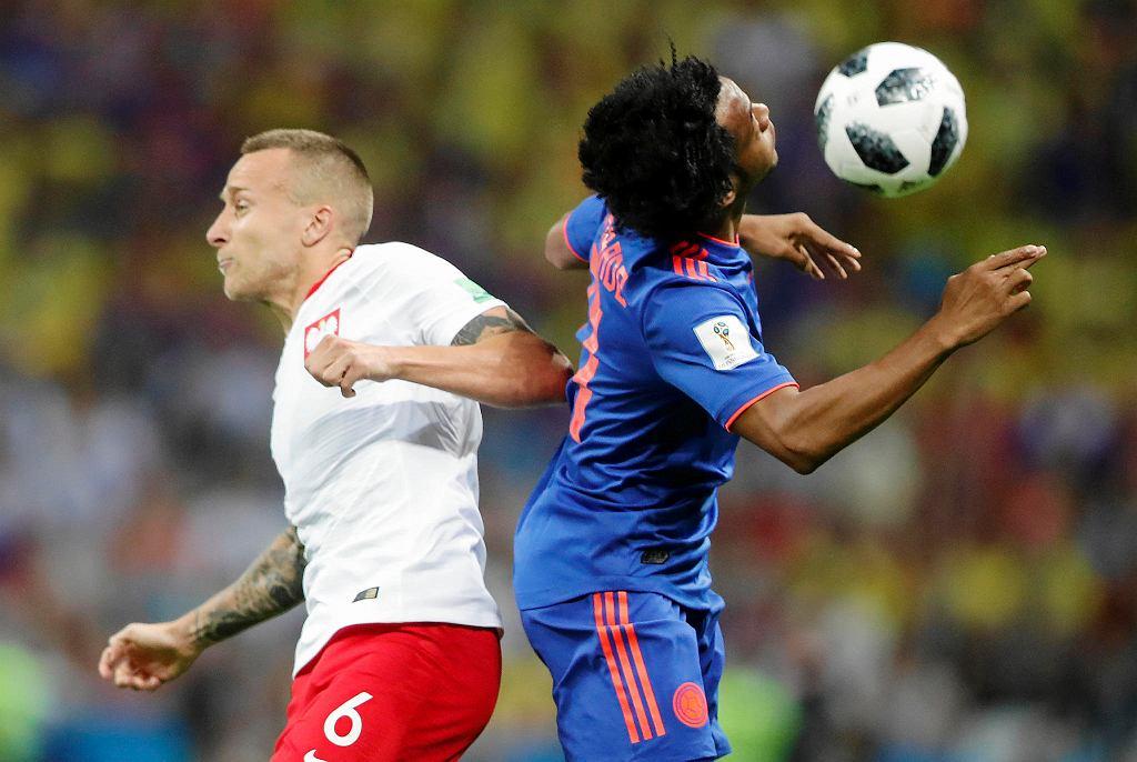 Jacek Góralski w meczu Polska-Kolumbia