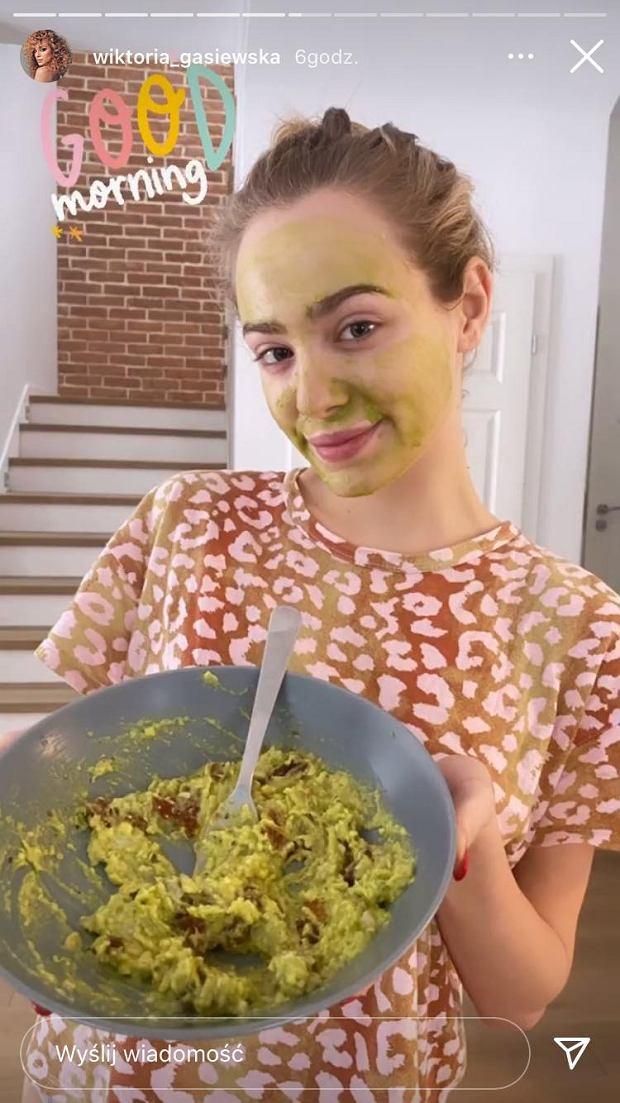Wiktoria Gąsiewska przygotowała domową maseczkę z awokado