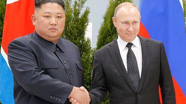 Spotkanie Kim Dzong Una i Władimira Putina