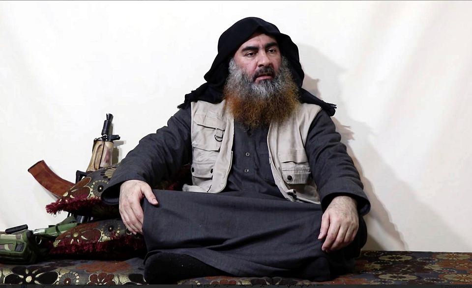 Samozwańczy kalif Abu Bakr al-Bagdadi, zdjęcie z nagrania opublikowanego przez ISIS 29 kwietnia 2019 r.