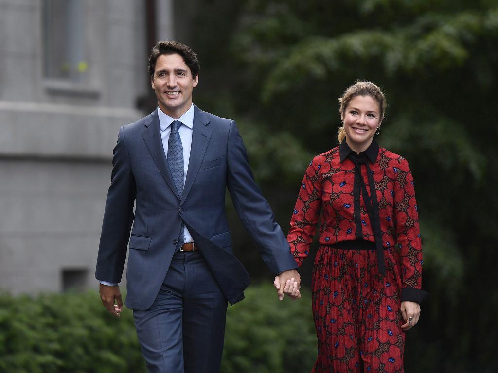 Justin Trudeau wraz z żoną - Sophie Gregoire Trudeau