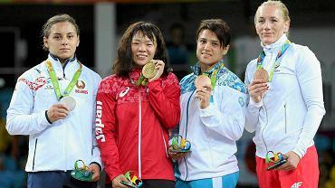Maryja Mamaszuk, Risako Kawai, Jekatierina Łarionowa i Monika Michalik