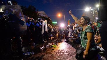 10.08.2018, Bukareszt, protesty antyrządowe.