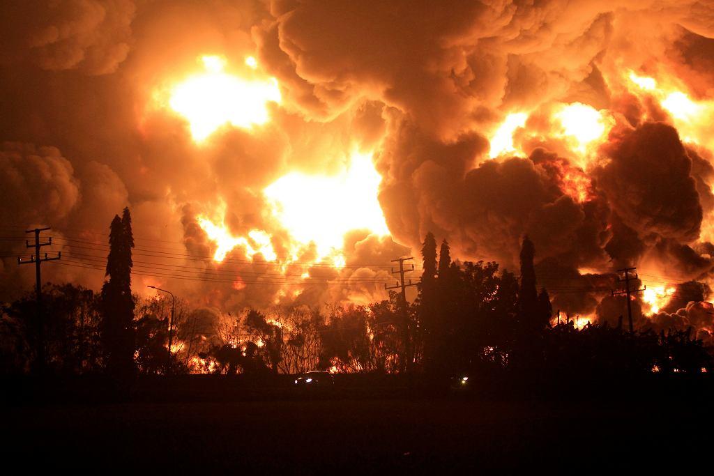 Pożar rafinerii w Indonezji