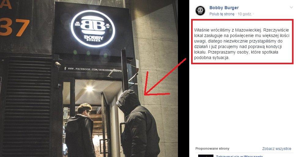 Kontrola Bobby Burgera w opisanym przez nas lokali