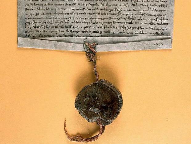 Potwierdzenie przywileju lokacyjnego Szczecina przez księcia Bogusława IV z 1293 r.