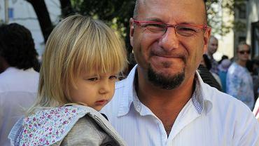 Piotr Gąsowski z córką Julią