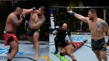 brutalny nokaut w wadze ciężkiej UFC Vegas 23. Źródło: Twitter