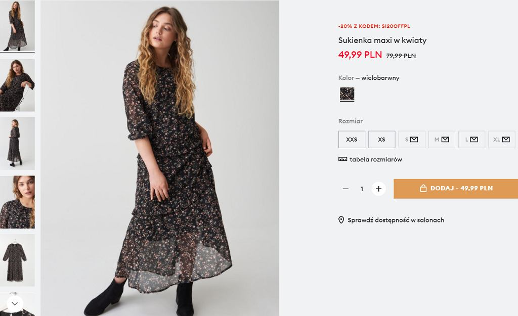 Sinsay, sukienka