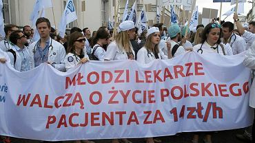 Protest lekarzy rezydentów w Warszawie, 18 czerwca 2016 r.