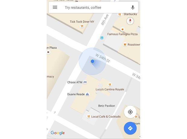 Mapy Google z nowym wskaźnikiem do kompasu