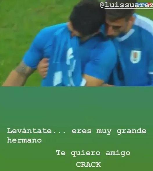 Neymar pocieszył Suareza