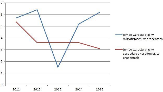 Wzrost płac w mikrofirmach