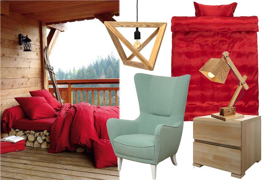 Sypialnia w stylu 'chalet'