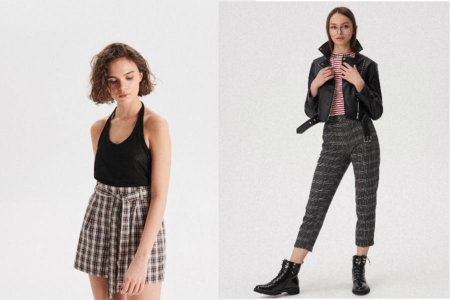 Spodnie i szorty w kratę