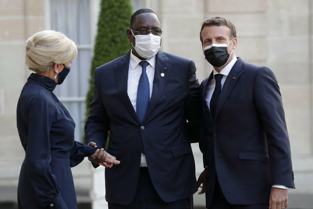 Brigitte Macron z mężem