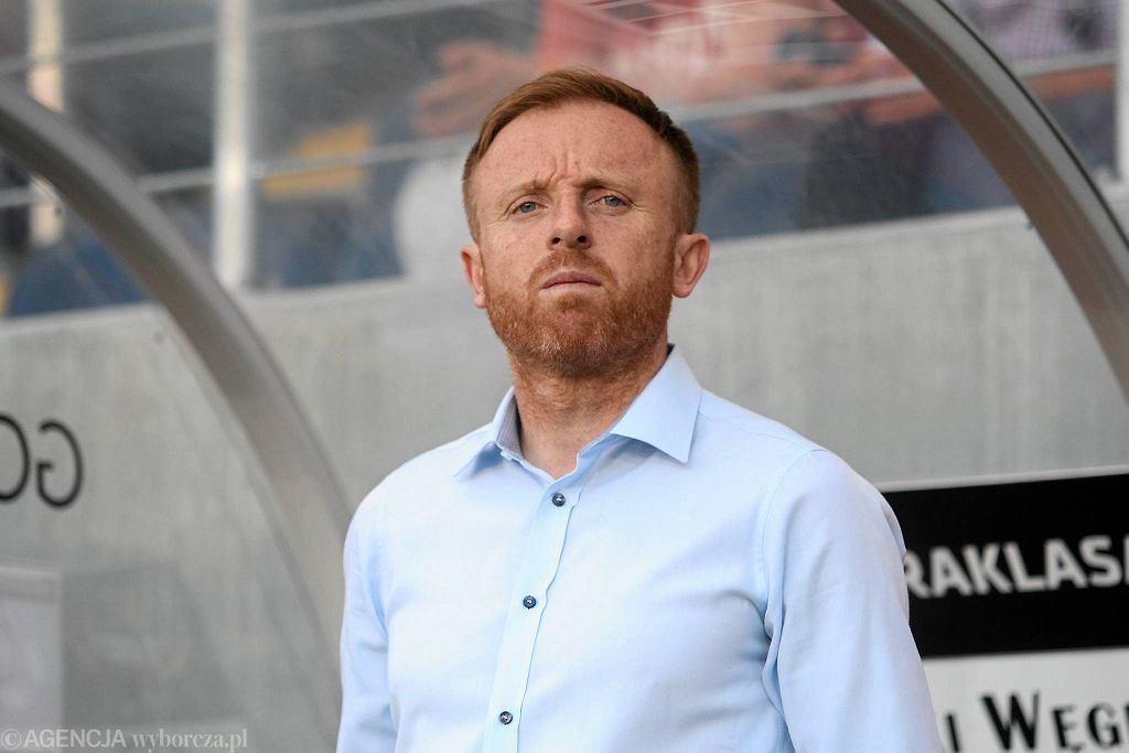 Trener Zagłębia Lubin Piotr Stokowiec