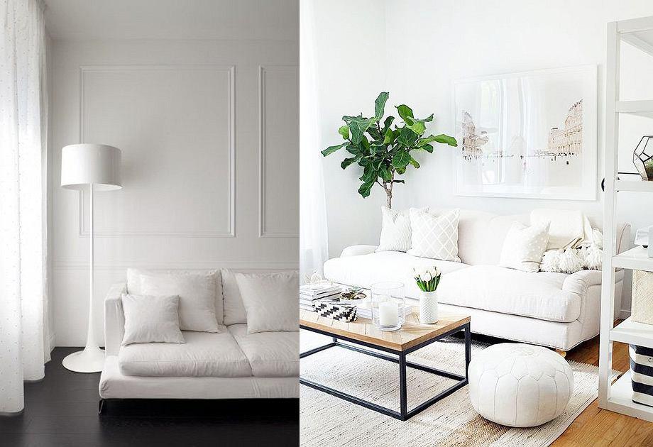 Aranżacja białego salonu