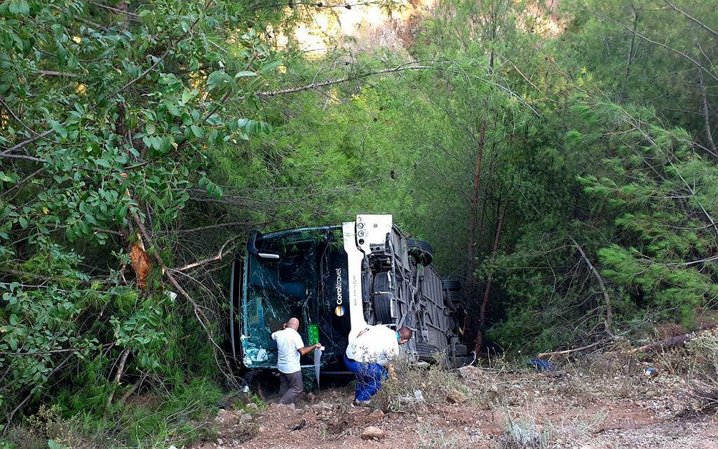 Wypadek z autokaru z polskimi turystami w Turcji