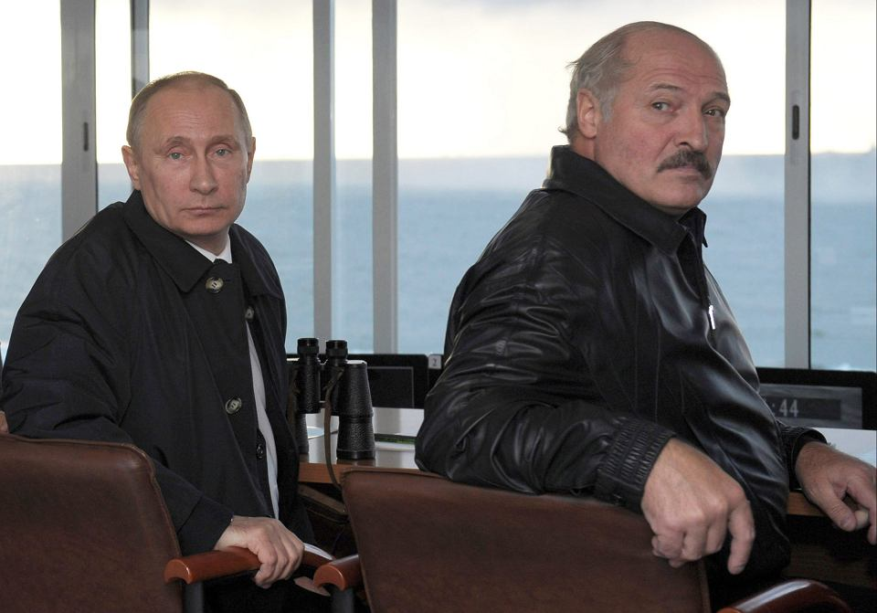 Władimir Putin i prezydent Białorusi Aleksander Łukaszenko