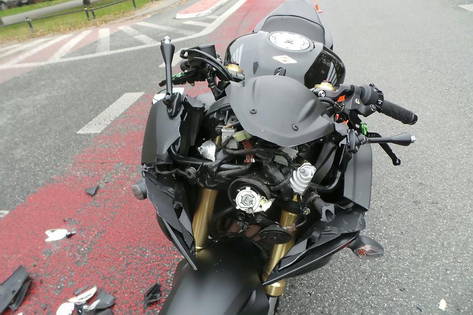 Wypadek motocykla, zdjęcie ilustracyjne