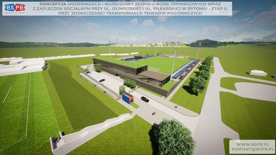 Wizualizacja nowego obiektu Polonii Bytom