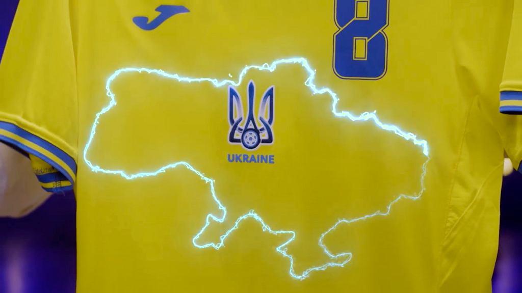 Fragment ukraińskiej koszulki przygotowanej na Euro 2020