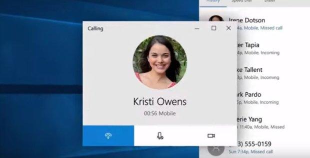 Odbieranie telefonu na Windows 10