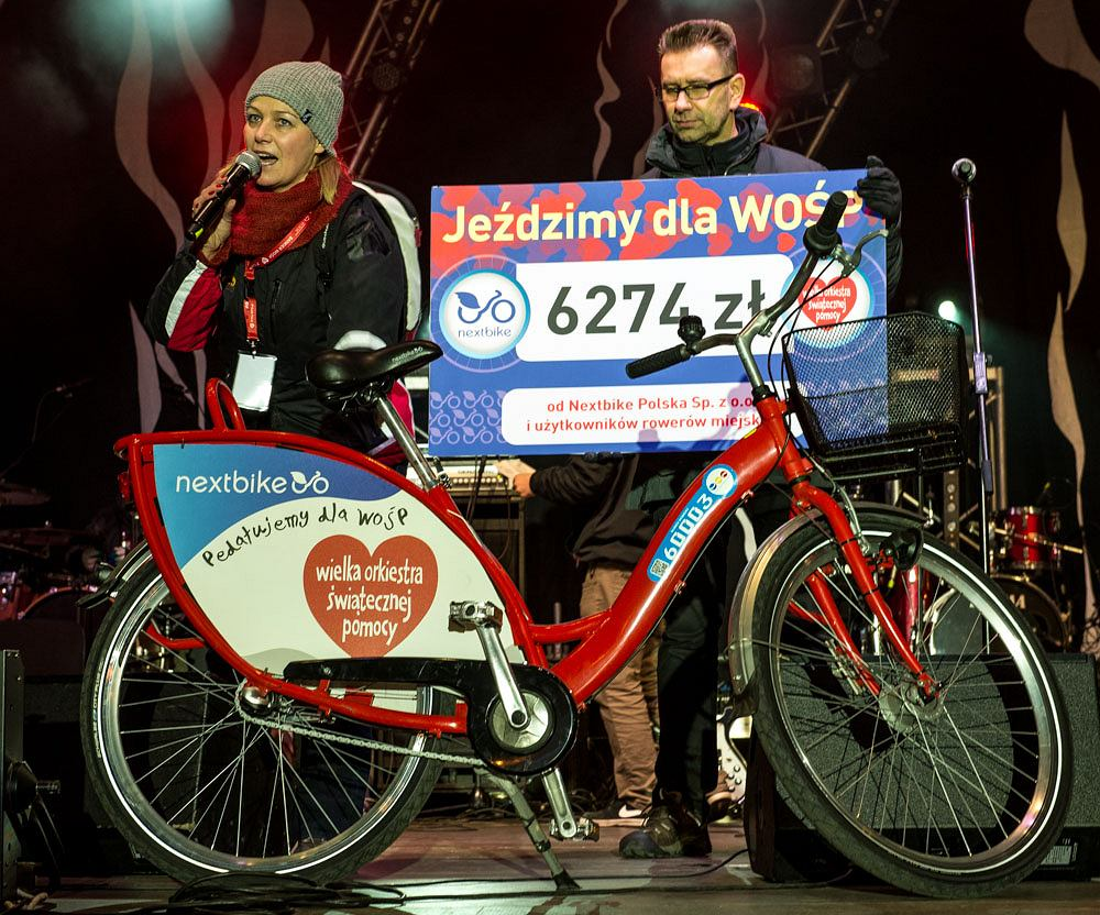 Rowerzyści i branża rowerowa jak co roku aktywnie uczestniczyli w finale Wielkiej Orkiestry Świątecznej Pomocy.