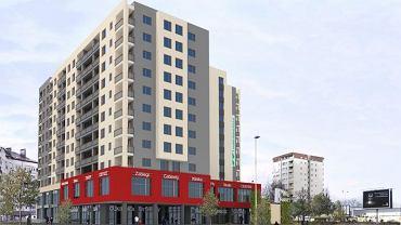 Tak ma wyglądać wieżowiec powstający na rogu ulic Witkiewicza i Santockiej