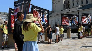 Protest antyaborcyjny przed Pałacem Prezydenckim
