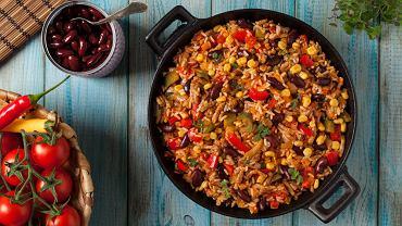 Sałatka meksykańska - przepis z ryżem