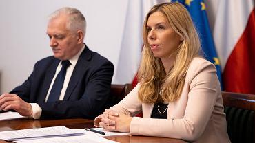 Jarosław Gowin i Anna Kornecka