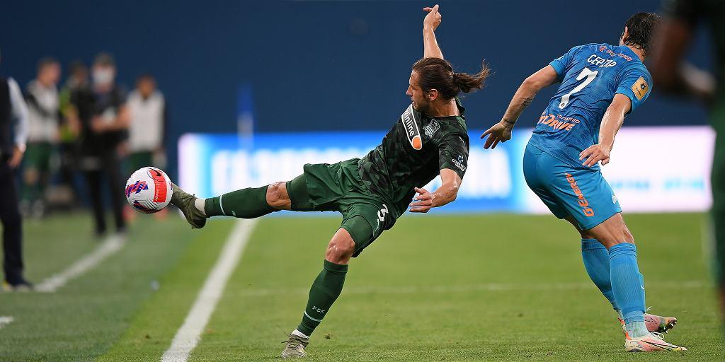 Grzegorz Krychowiak w meczu Zenit - Krasnodar