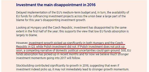 Nordea Markets o przyczynach spadku inwestycji w Polsce