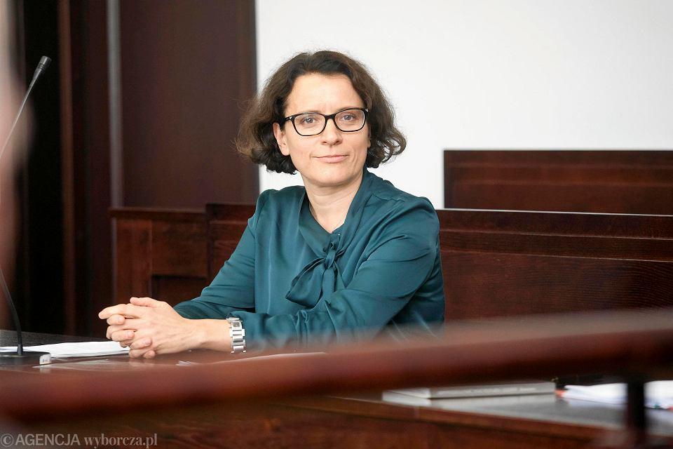 11 października 2019. Sędzia Monika Frąckowiak w sądzie dyscyplinarnym we Wrocławiu