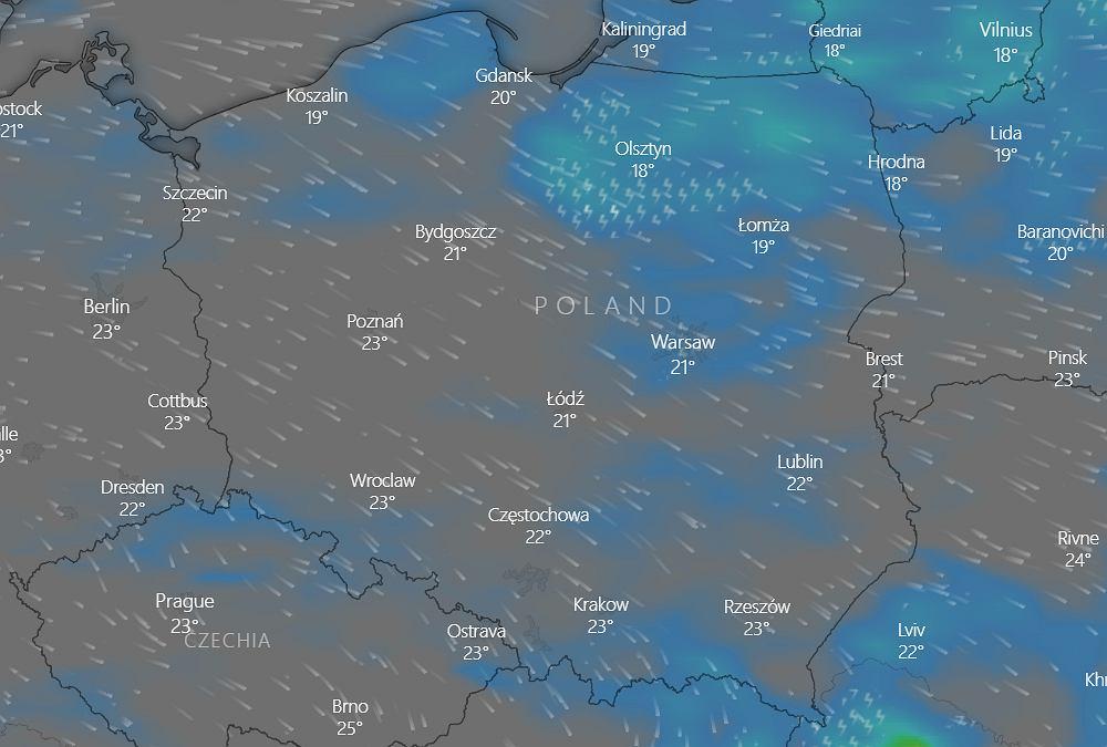Pogoda w Polsce - 11 sierpnia 2021 (zdjęcie ilustracyjne)