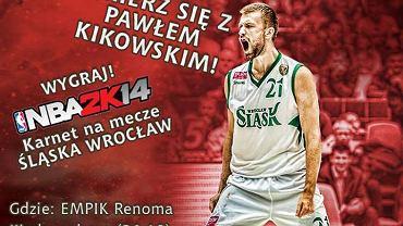 W sobotę w Renomie kibice będą mogli zagrać z koszykarzami Śląska w popularną grę NBA 2K14