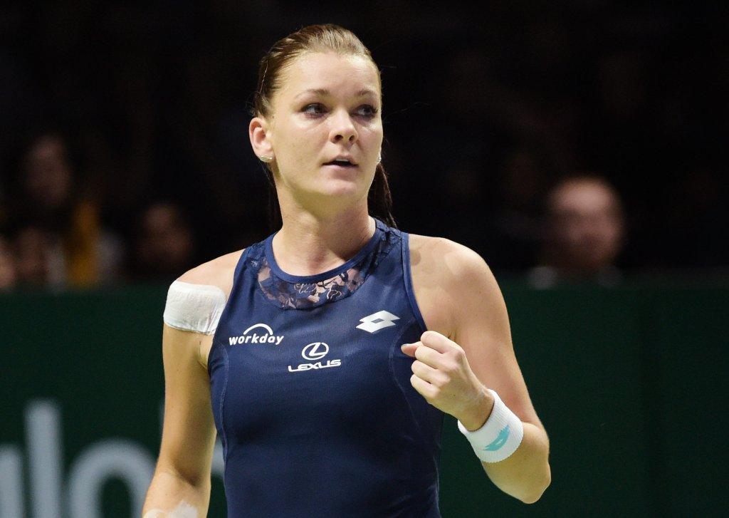 WTA Final 2015. Agnieszka Radwańska w meczu z Garbine Muguruzą