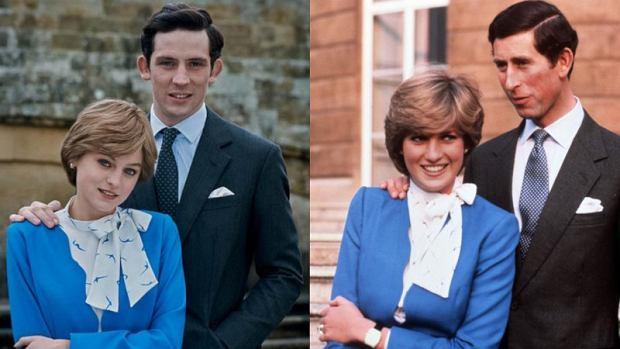 Księżna Diana i książę Karol w serialu 'The Crown' i w rzeczywistości