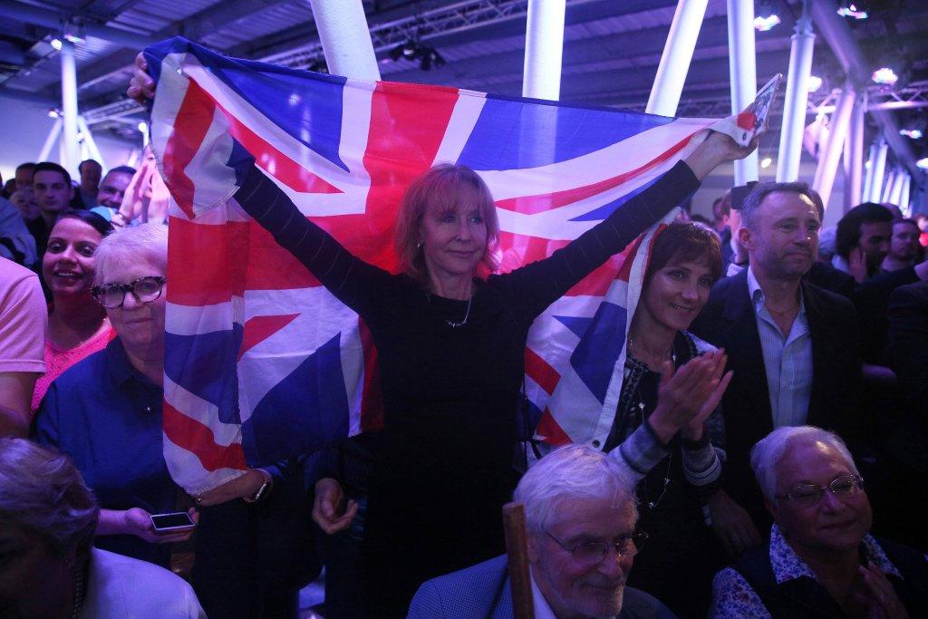 Zwolennicy wyjścia Wielkiej Brytanii z UE podczas wiecu w Londynie