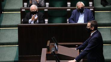 18.11.2020, Sejm, przemawia Mateusz Morawiecki