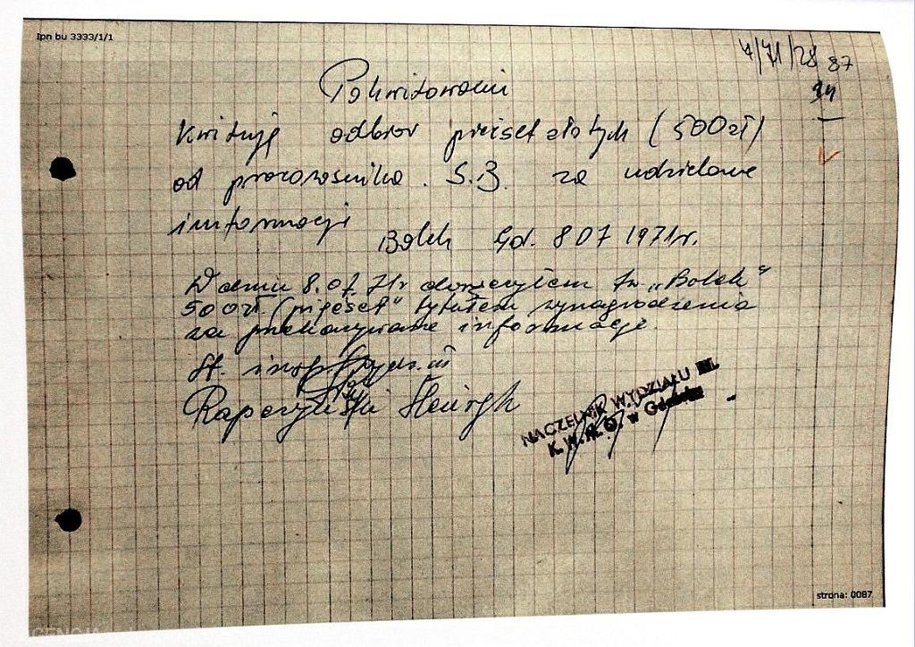 Dokumenty ujawnione przez IPN (fot. Sławomir Kamiński / Agencja Gazeta)
