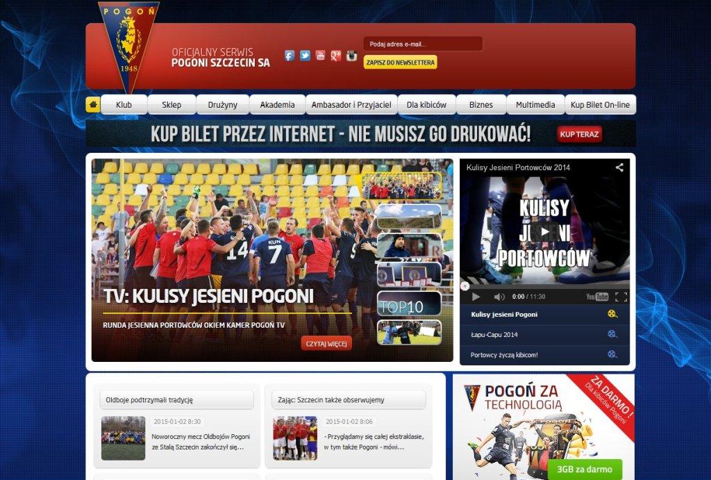 Oficjalna strona Pogoni Szczecin