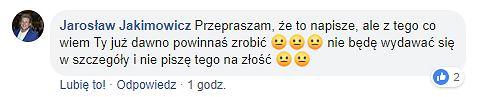 Jarosław Jakimowicz komentuje rozwód Dominiki Tajner-Wiśniewskiej