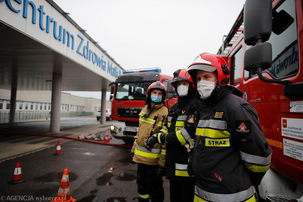 4.1.2021 r. Pożar instalacji elektrycznej w Matce Polce. Blisko 200 osób ewakuowanych, 40 strażaków na miejscu