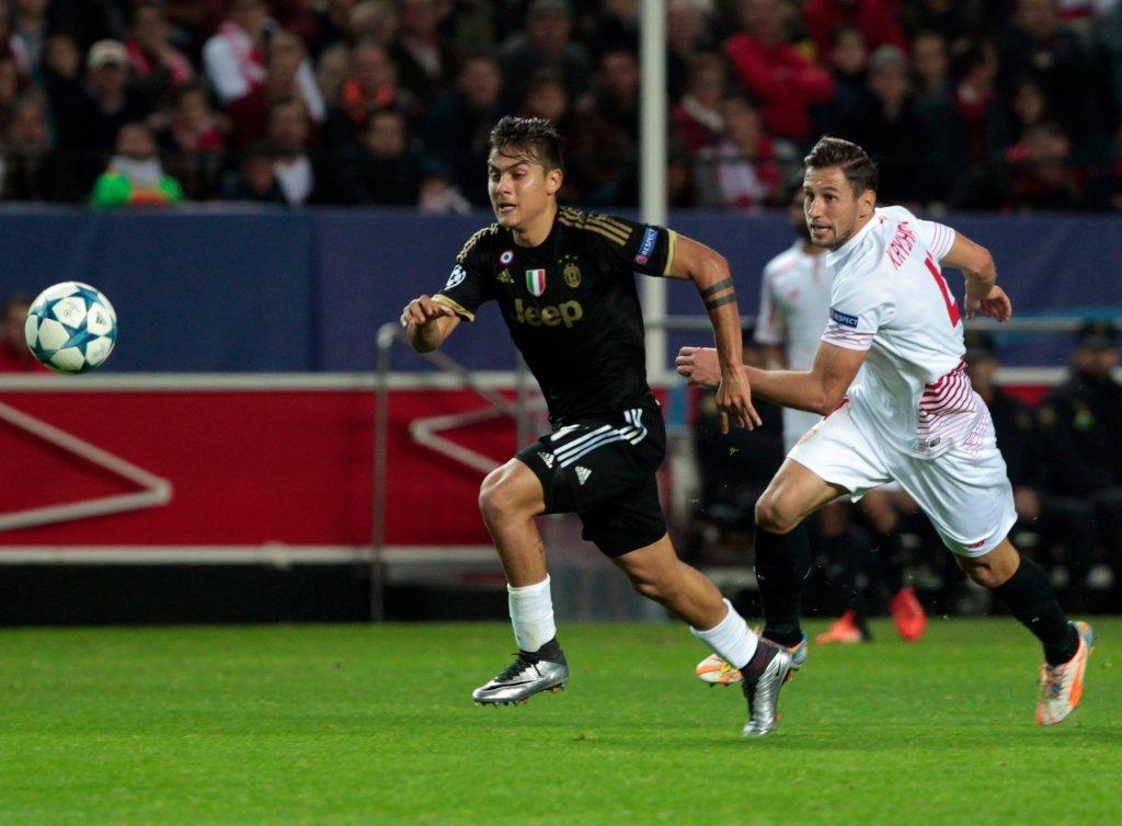 Grzegorz Krychowiak w meczu Sevilla - Juventus